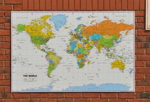 World Wall Map ( Political) Outdoor Education - Tiger Moon