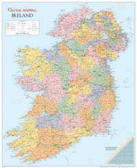 Ireland Wall Map - Global Mapping