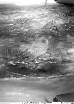 SkyView DDay Gold Beach Panorama Aerial Photo-Northern France