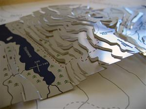 Helvellyn Wapenmap Relief Map - Natural Ash Frame