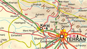 Iran ITMB International Travel Maps