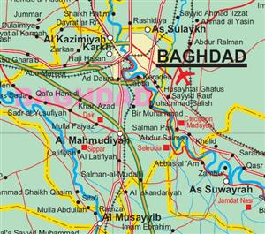 Iraq ITMB International Travel Maps