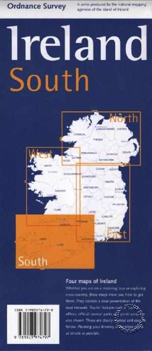 Ireland Holiday Map 4 South