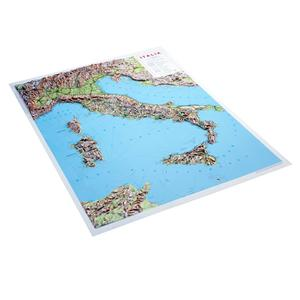 Italy Raised Relief Map - Unframed