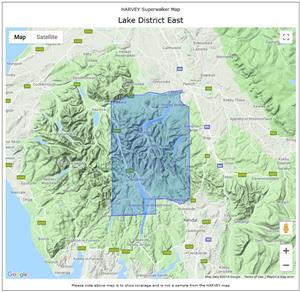 Lake District East - Harvey Maps