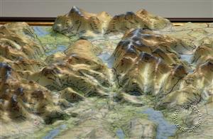 Lake District Raised Relief Map (unframed) - Dorrigo Maps