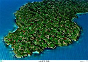 SkyView Land's End, Cornwall 3D Aerial Photo- England