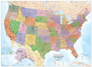 United States of America Wall Map (USA) - Global Mapping