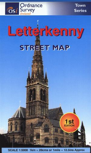 Letterkenny Street Map,  Republic of Ireland