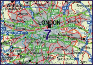 07 London - Postcode District Map - PDF COLOUR | Map Stop