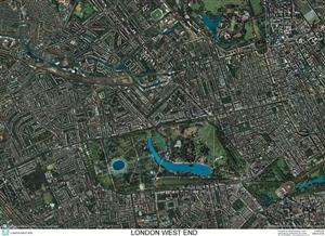 SkyView London West End Aerial Photo- England (Includes Buckingham Palace and Lords Cricket Ground)