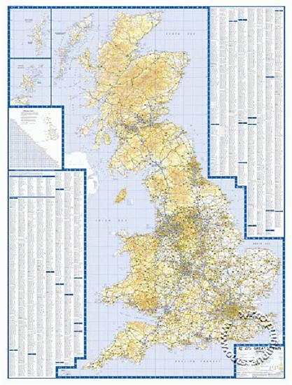 Great Britain Road Map A Z Flat Isbn 9781843487876