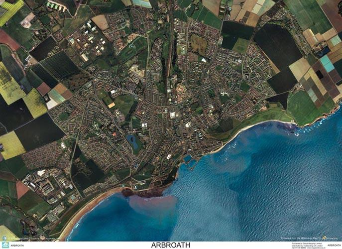 Skyview Arbroath Aerial Photo Scotland Map Stop Top