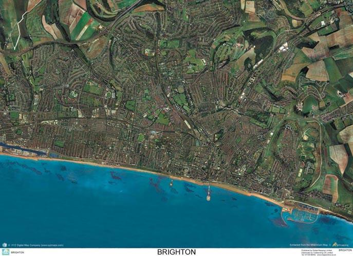 Skyview Brighton Sussex Aerial Photo England Map Stop Top Maps