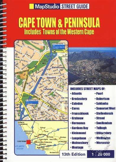 Cape Town And Peninsula Street Guide South Africa Map Studio