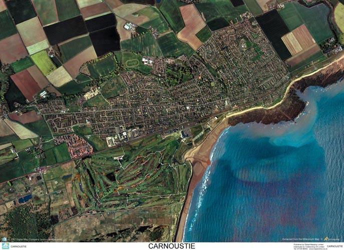 Skyview Carnoustie Aerial Photo Scotland Map Stop Top Maps At A