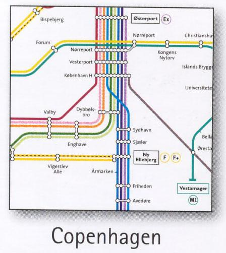 Copenhagen Transport Map Denmark Metro and Railway Map Map Stop