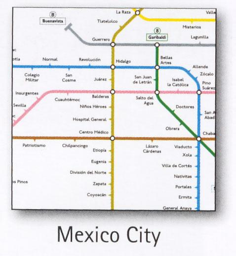 Mexico City Transport Map Mexico Map Stop Top maps at a