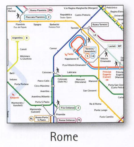 Rome Transport Map Italy Tram Metro and Suburban Map Map Stop