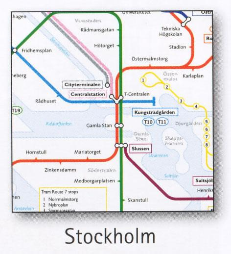 Stockholm Transport Map Sweden Metro and Tram Map Map Stop Top