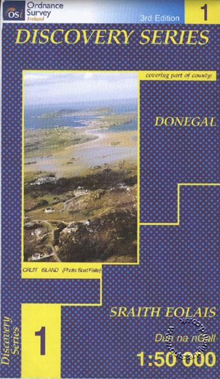 Donegal Nw Republic Of Ireland Discovery 1 Map Isbn