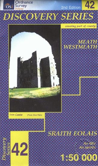 Meath Westmeath Republic Of Ireland Discovery 42 Map