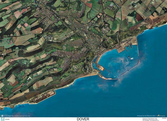Map Of England Dover.Skyview Dover Kent Aerial Photo England Map Stop Top Maps At A