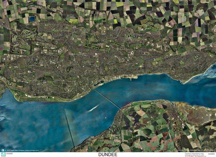 SkyView Dundee Aerial Photo Scotland Map Stop Top maps at a