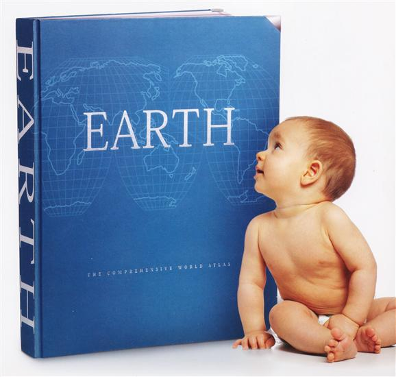 Earth Atlas - Millennium House- Hand Bound in leather - SAVE