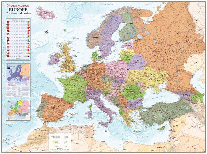 Europe Large Wall Map Global Mapping ISBN 9780319148303 Map