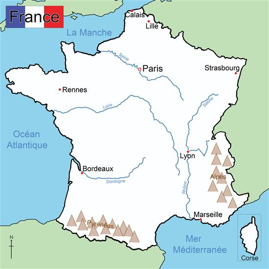 Map Of France Cities And Towns.Raymond Davis Blog Map Of France With Cities Rivers And Mountains