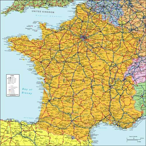 France Map, Digital Download - XYZ   Map Stop   Top maps at a ... on