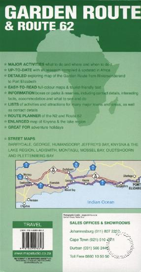 Garden Route And Route 62 South Africa Map Studio Isbn 9781868098613 Map Stop Top Maps