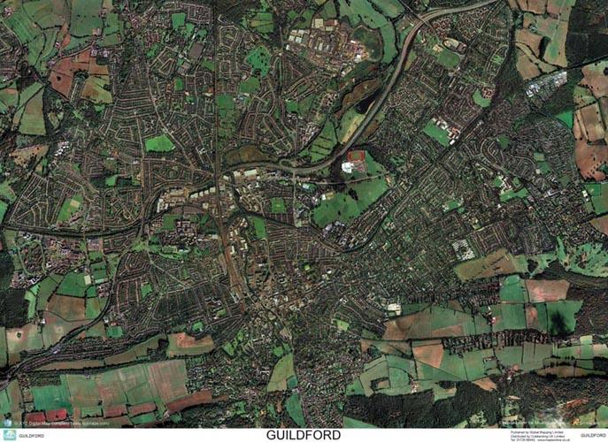 Guilford England Map.Skyview Guildford Surrey Aerial Photo England Map Stop Top