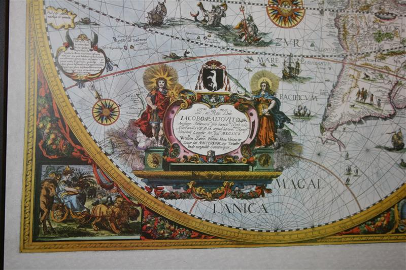 Blaeu Antique World Map Global Mapping Isbn