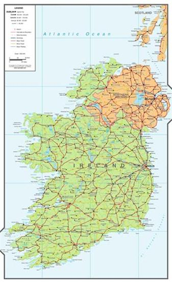 Large Map Of Ireland.Ireland Map Large Digital Download Xyz Map Stop Top Maps At