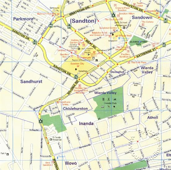 Randburg South Africa  city pictures gallery : Johannesburg/Randburg/Sandton Street Map, South Africa Map Studio ...
