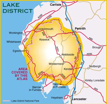 Map Of England Lake District.Lake District Outdoor Atlas England Harvey Maps Map Stop Top