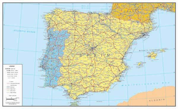 Spain Map Large Digital Download XYZ Map Stop Top Maps At - Large map of spain
