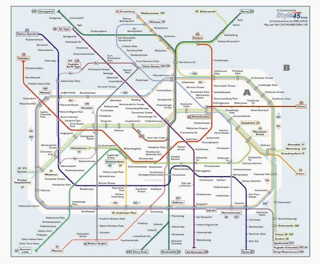 Famous Berlin Transport Map, Germany. Metro and Suburban Lines Map | Map  SS11