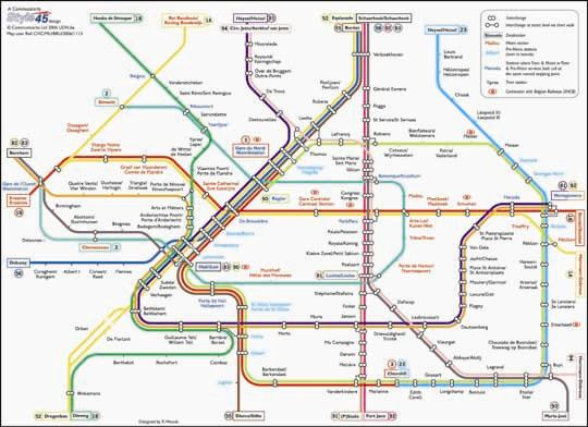 Brussels Transport Map Belgium Tram Metro Map Map Stop Top