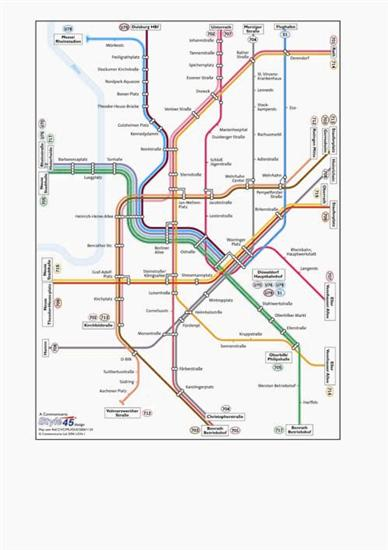dusseldorf transport map germany u bahn and s bahn map map stop top maps at a reasonable. Black Bedroom Furniture Sets. Home Design Ideas