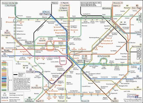 Milan Transport Map Italy Tram and Metro Map Map Stop Top maps