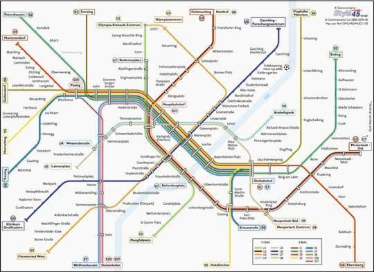Munich Transport Map Germany UBahn and SBahn Map Map Stop
