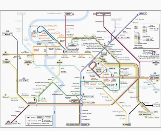 Italy Metro Map.Rome Transport Map Italy Tram Metro And Suburban Map Map Stop
