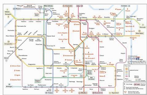 Turin Transport Map Italy Tram Metro and Railway Map Map Stop
