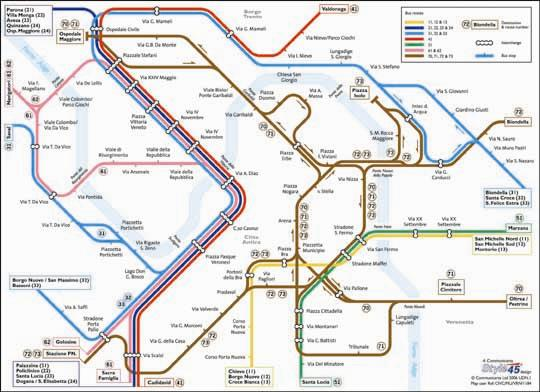 Verona Transport Map Italy Bus Map Map Stop Top Maps At A