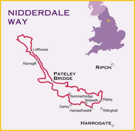 Nidderdale Way Map North Yorkshire England Harvey Maps Map