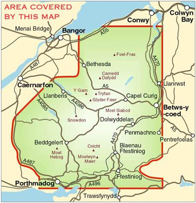 Map of Snowdonia National Park