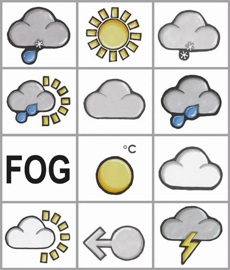 Weather Symbol Magnets Wildgoose Map Stop Top Maps At A